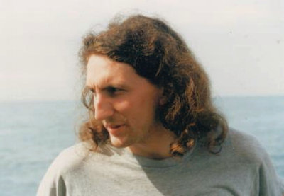 Andy Bradgate, aka Colin Mueslibar and Steve Satan on Radio Caroline in 1989