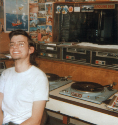 Andy Burnham, as Andy Parka on Radio Caroline in 1989