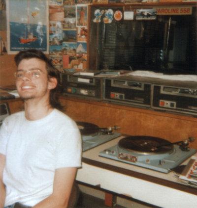 Andy Burnham, as Andy Parka on Radio Caroline in 1989